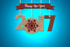 sign reading Happy New Year 2017